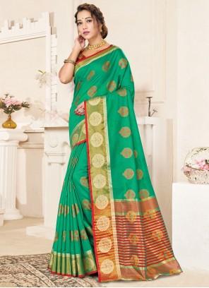 Handloom Cotton Woven Traditional Saree