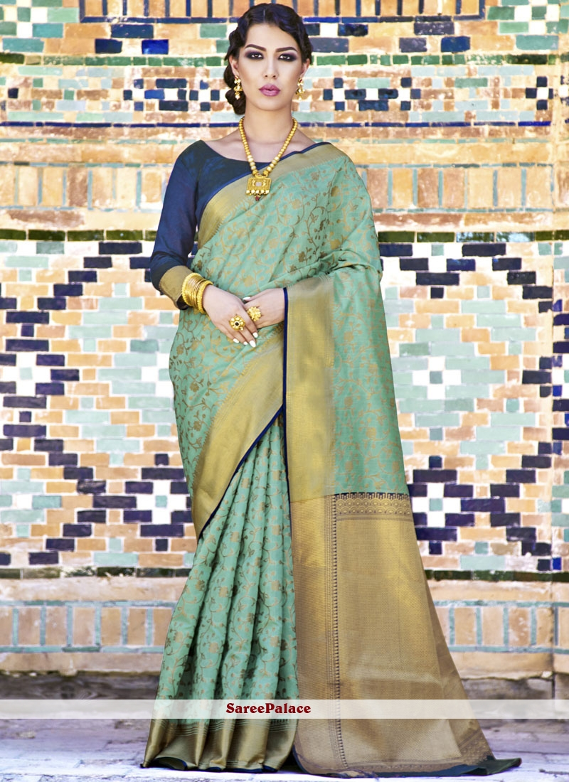 58d9f2efaea0b0 Buy Handloom Silk Weaving Work Designer Traditional Saree Online