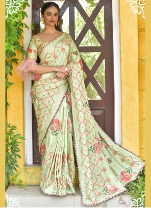 Green Handwork Designer Traditional Saree