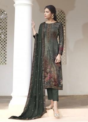 Handwork Green Designer Pakistani Suit
