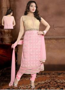 Handwork Pink Salwar Suit