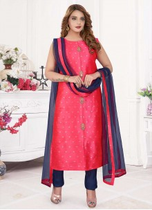 Hot Pink Handwork Readymade Suit