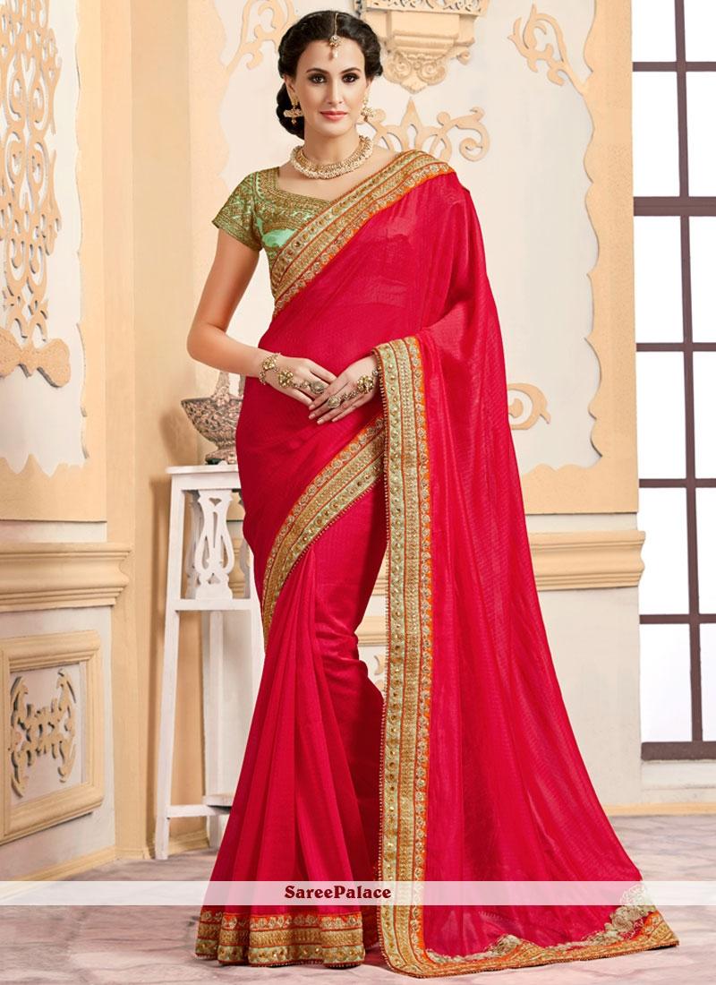 Haute Lace Work Art Silk Traditional  Saree