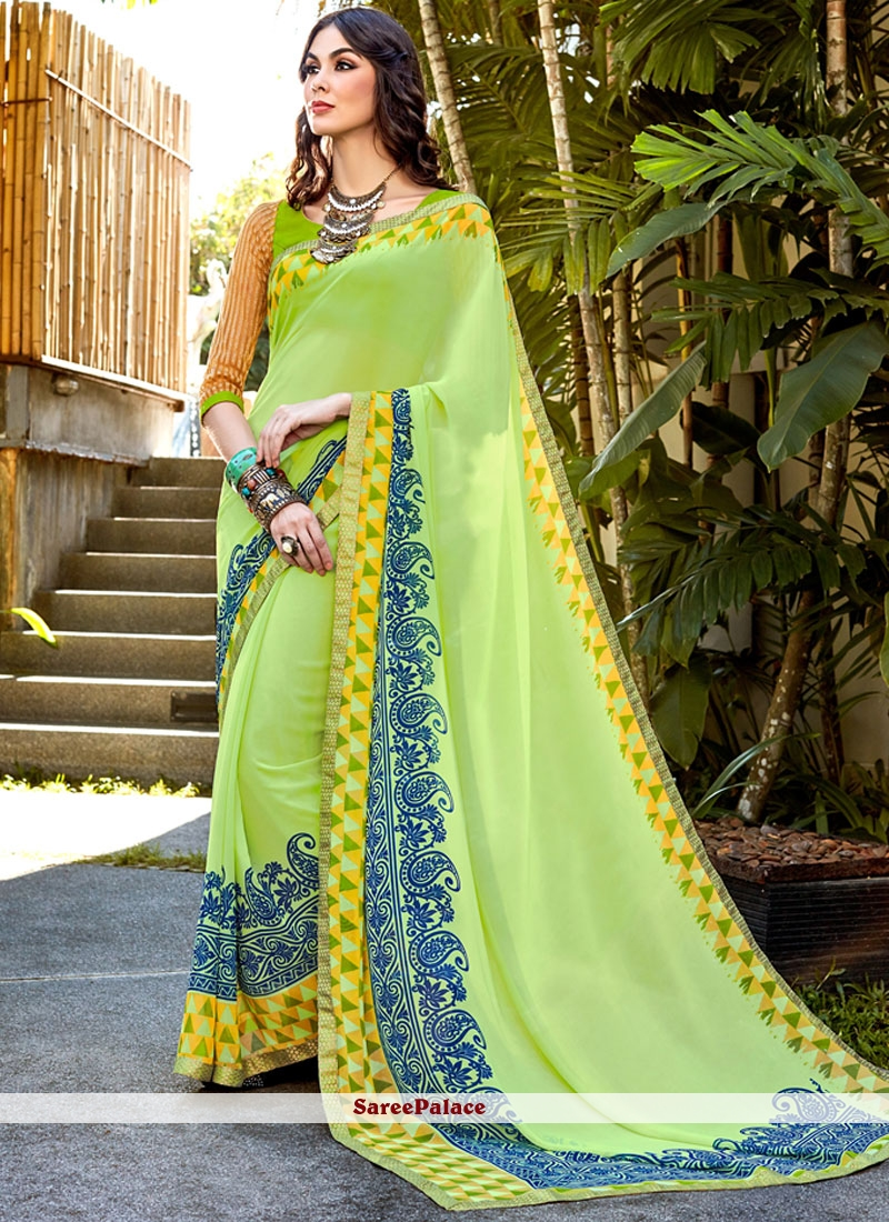 Heavenly Faux Georgette Shaded Saree