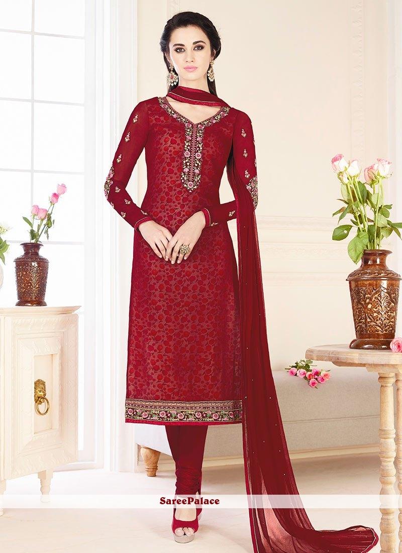 72810709df Buy Heavenly Resham Work Churidar Designer Suit Online