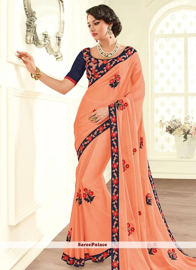 Heavenly Resham Work Classic Designer Saree