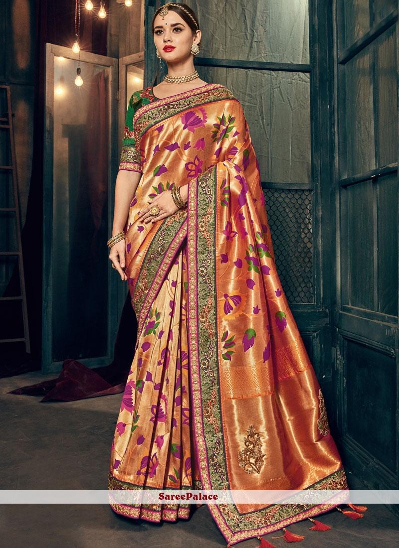 800c75aa99 Buy Honourable Banarasi Silk Resham Work Designer Traditional Saree Online