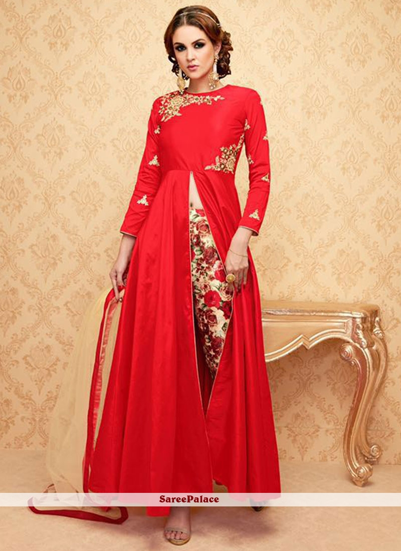 Honourable Embroidered Work Banglori Silk Designer Suit