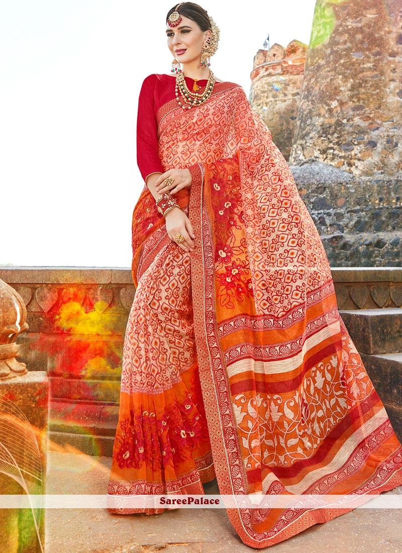 Honourable Print Work Multi Colour Printed Saree