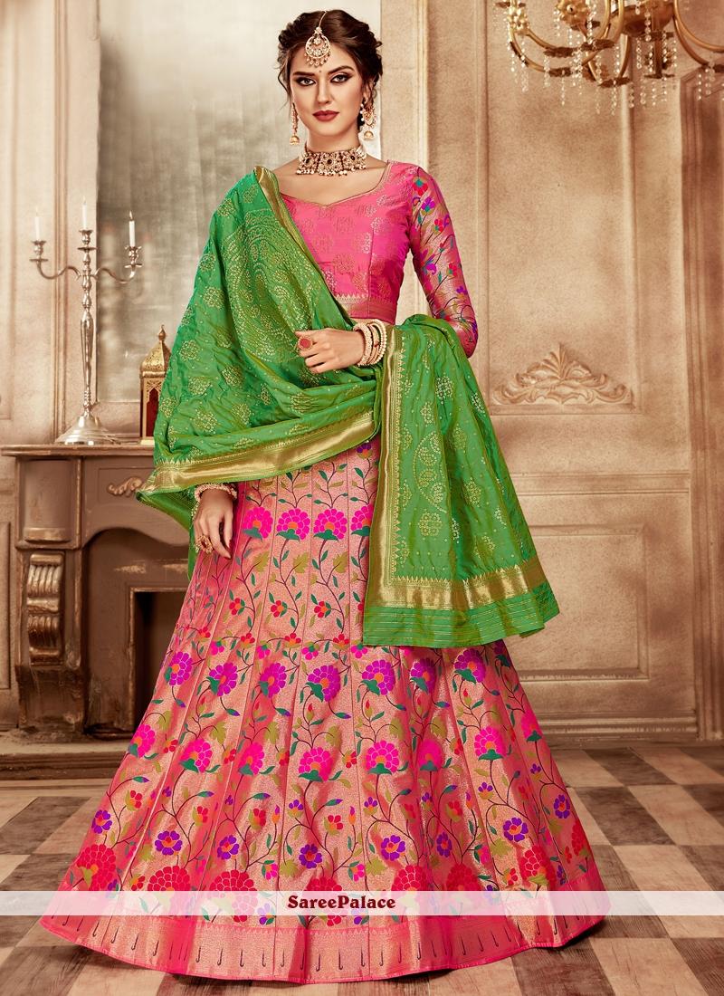Hot Pink Bridal Lehenga Choli