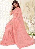 Hot Pink Color Classic Designer Saree