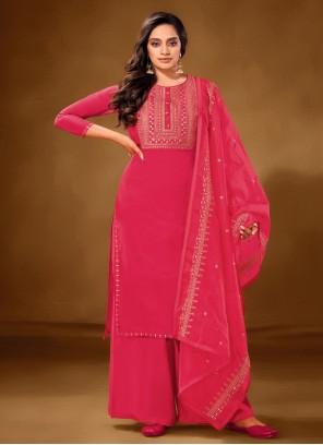 Hot Pink Cotton Lawn Ceremonial Designer Pakistani Salwar Suit