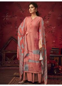 Hot Pink Festival Designer Palazzo Salwar Kameez