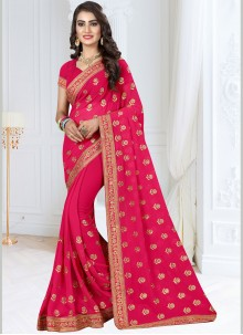 Hot Pink Festival Designer Saree
