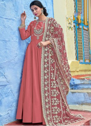 Hot Pink Reception Readymade Salwar Suit