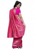 Hot Pink Weaving Work Designer Traditional Saree