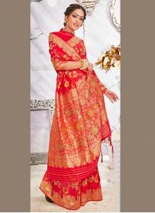 Hot Pink Wedding Banarasi Silk Designer Traditional Saree