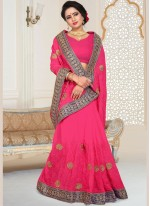 Hot Pink Wedding Designer Traditional Saree