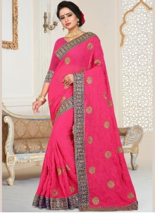 Hot Pink Wedding Designer Traditional Saree