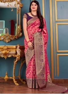 Hot Pink Wedding Traditional Designer Saree