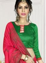 Hot Pink Zari Festival Trendy Saree