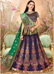 Hypnotizing Art Silk Weaving Work Lehenga Choli