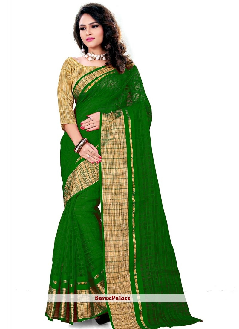 Immaculate Cotton   Patch Border Work Casual Saree