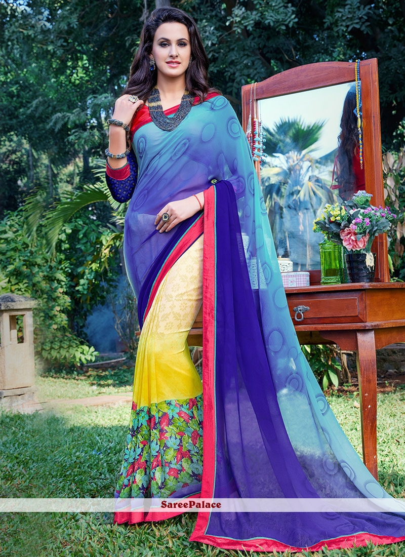 Immaculate Printed Saree For Party