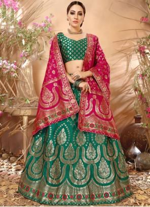 Immaculate Weaving Work Lehenga Choli