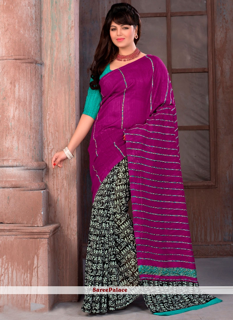 Impeccable Cotton   Multi Colour Printed Saree