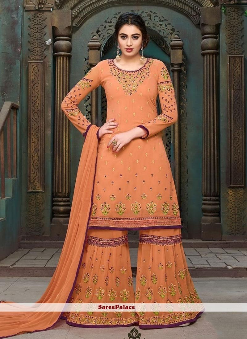 638f362354faf Buy Impeccable Faux Georgette Resham Work Designer Pakistani Suit Online