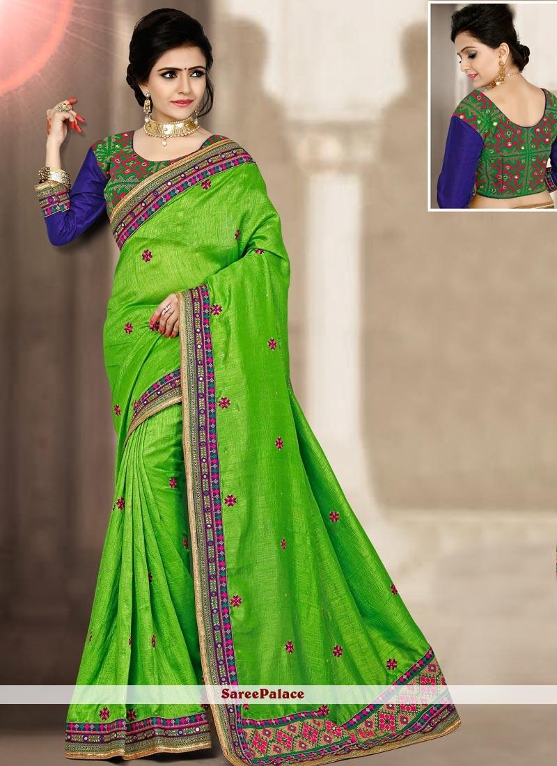 Imperial Green Traditional Designer Saree