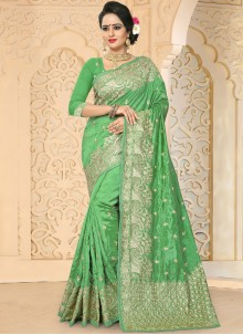 Imposing Green Traditional  Saree