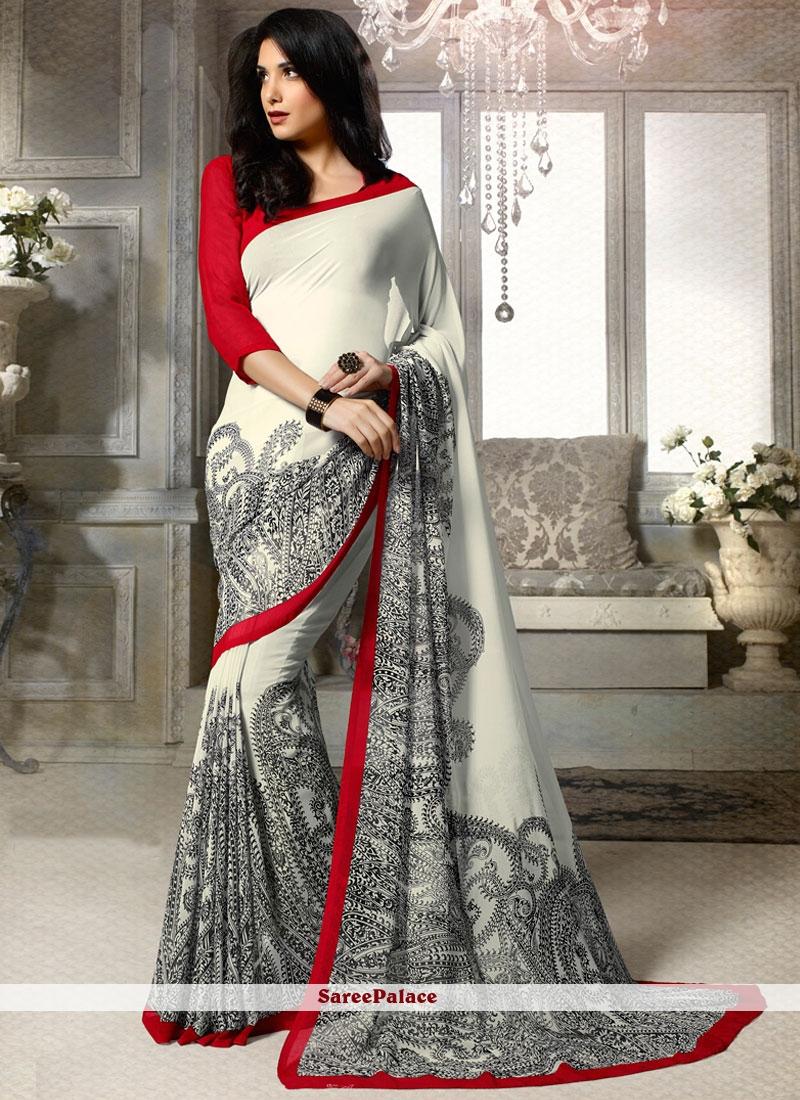 Imposing Print Work Printed Saree