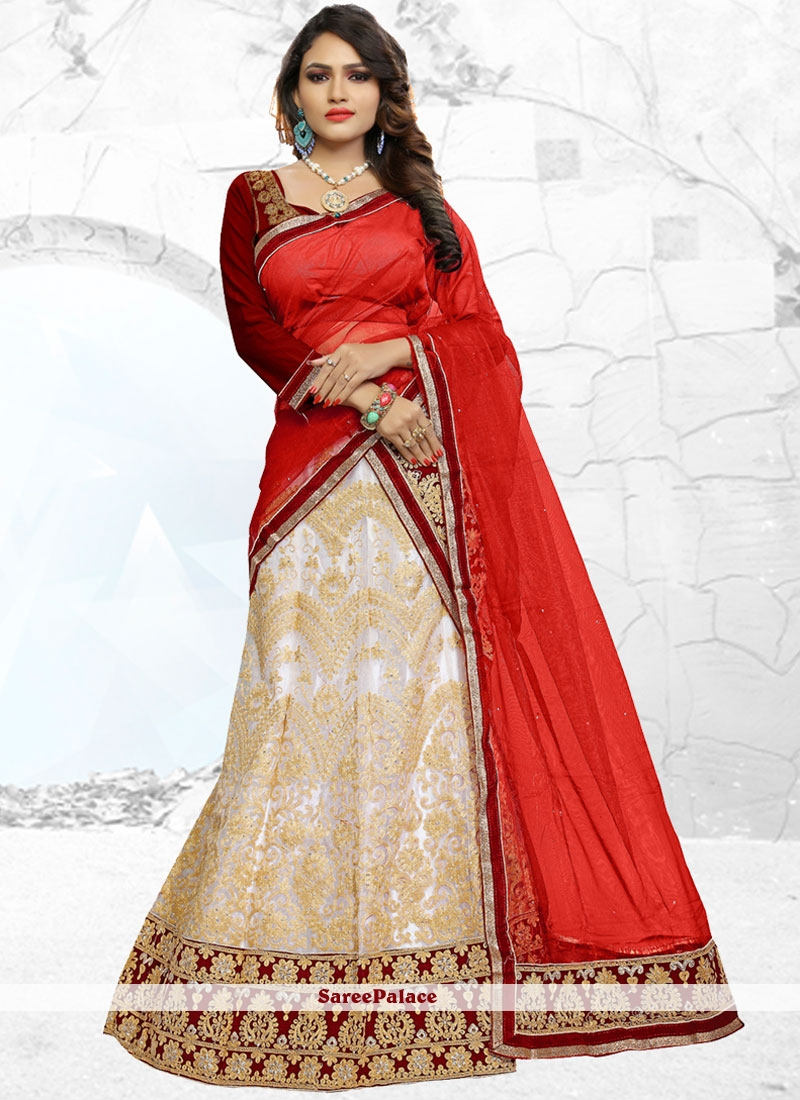 Impressive Net Embroidered Work Lehenga Choli