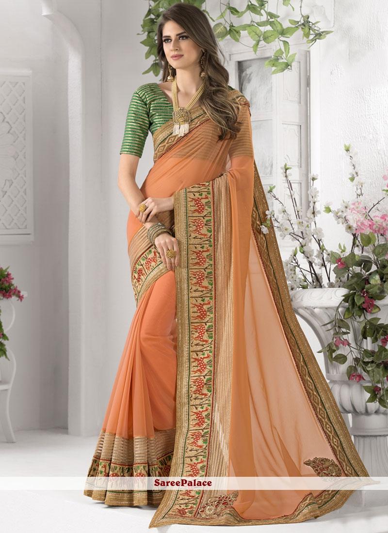 Impressive Resham Work Classic Designer Saree