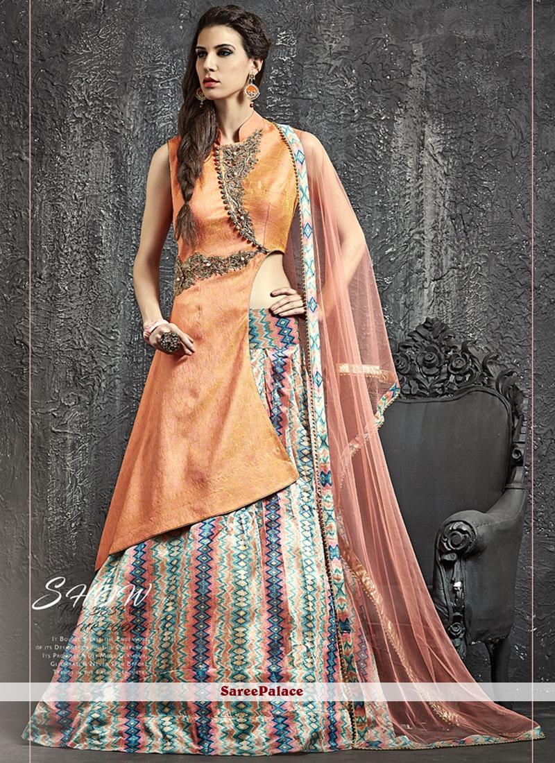 Incredible Jacquard Silk Kasab Work Lehenga Choli