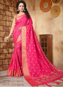 Innovative Zari Work Art Silk Designer Traditional Saree