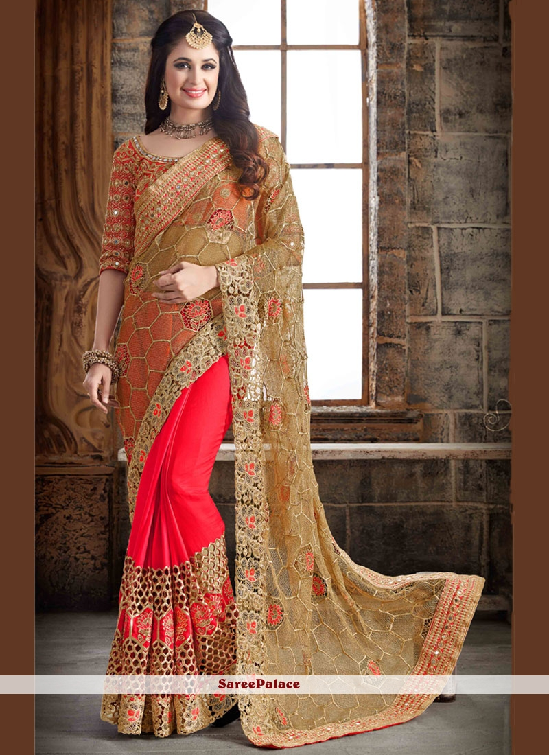 Intriguing Raw Silk Embroidered Work Traditional Designer Saree