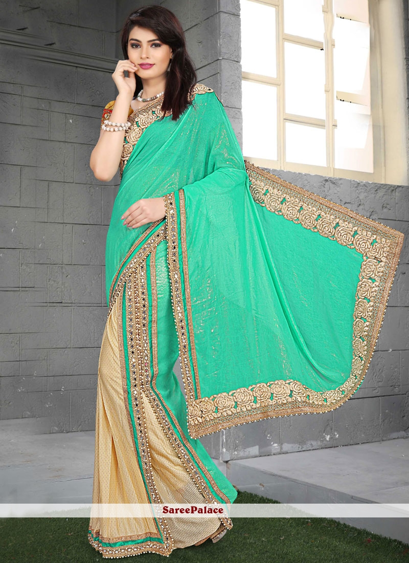 Intrinsic Faux Georgette Patch Border Work Classic Saree
