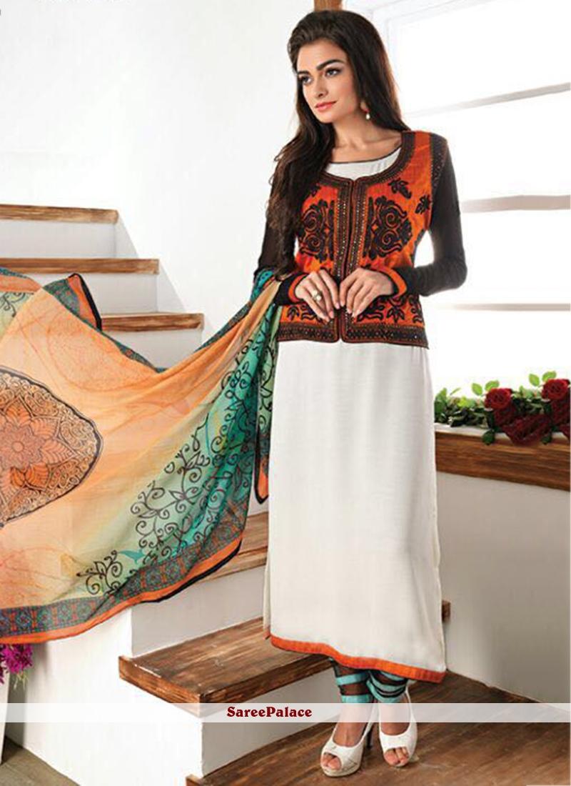 Invigorating Faux Georgette Churidar Designer Suit