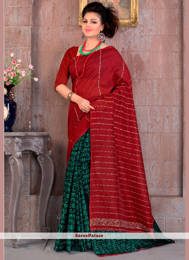 Irresistible Cotton   Print Work Printed Saree