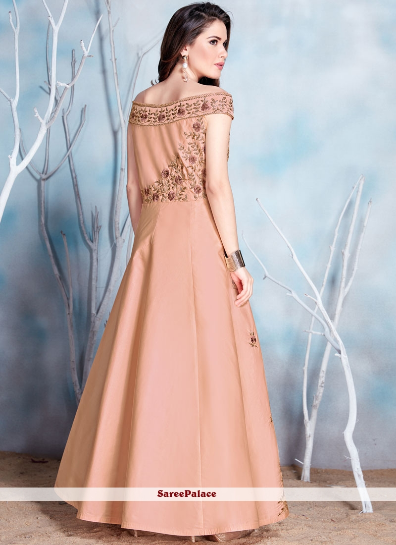 fb7f518c6dd Buy Irresistible Fancy Fabric Embroidered Work Readymade Gown Online
