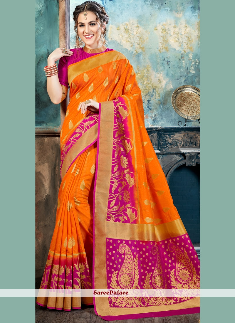 Irresistible Silk Abstract Print Work Traditional  Saree
