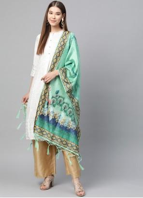 Jacquard Designer Dupatta in Multi Colour