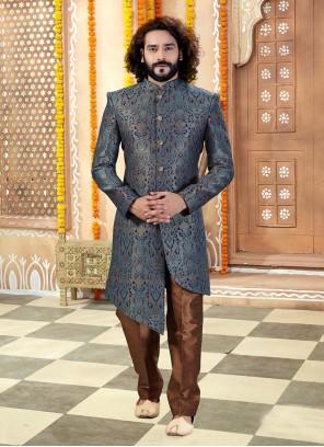Jacquard Multi Colour Sherwani