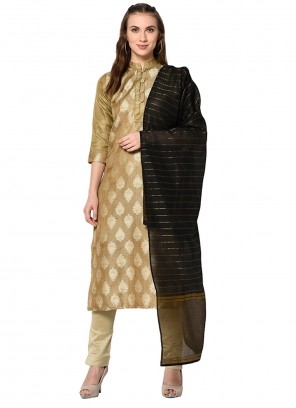 Jacquard Pant Style Suit in Beige