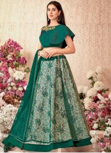 Jacquard Silk Designer A Line Lehenga Choli