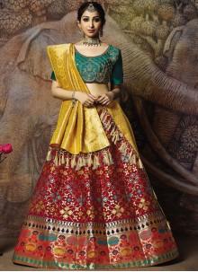 Jacquard Silk Designer Lehenga Choli