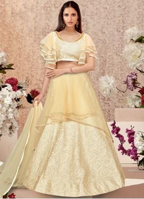 Jacquard Silk Embroidered Trendy A Line Lehenga Choli